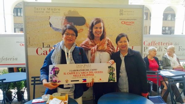(From left): Chit Juan, Slow Food's Elena Aniere, and DA Usec Evelyn Laviña